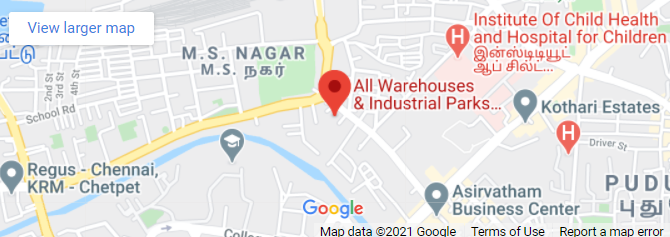 Allwarehouses chennai map